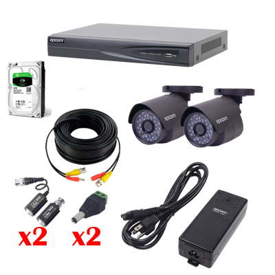 KIT 2 CAMARAS TURBO FULL HD 1080p con instalacion