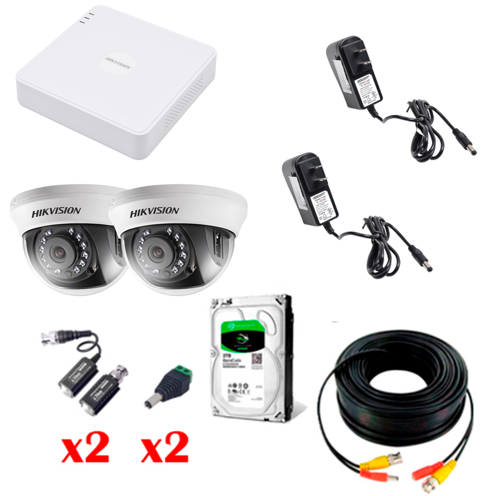 KIT 2 CAMARAS TURBO HD 720p con instalacion